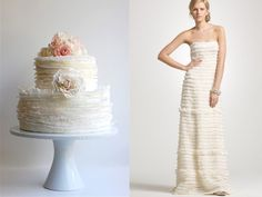 New Wedding Cake Trend? Match your bridal gown?