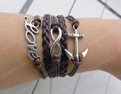 Infinity bracelet  anchor bracelet love bracelet by Colorbody, $5.99
