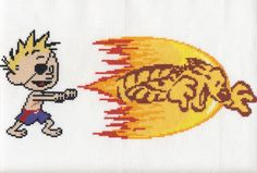 Calvin Tigershot Cross Stitch