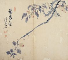 (Korea) Flowers & Birds by Danwon Kim Hong-do. ca 18th century CE. color on paper.