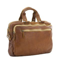 Burkely Washed Briefcase (cognac)