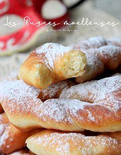 Make light and fluffy bugnes - RECiPE Churros, Donut Recipes, Snack Recipes, Healthy Desserts, No Bake Desserts, Beste Burger, Desserts With Biscuits, Carnival Food, Bagel Recipe