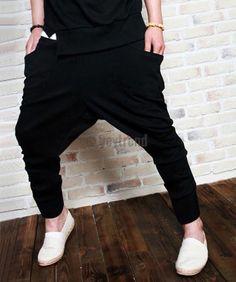 Men Harem Pant Hip-hop Baggy Casual Stylish Pocket Sports Trousers