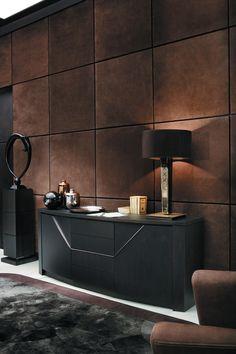 #lampshade  #boxpleat brown #VPF-Amsterdam - materials Snooker | Smania