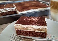 Jednoduché a přitom tak fantastické řezy, které máte hotové za pár minut. Dokud se upeče těsto, tak připravíte krém. Krém se připravuje velmi jednoduše. Vyšleháte šlehačku s cukrem, přidáte mascarpone a je hotovo. Tento krém jsem si velmi oblíbila. Dělávám ho i na dorty, vydrží dlouho a dobře drží. Autor: Simona Czech Desserts, Tiramisu Cake, 20 Min, Cheesecake, Deserts, Food Porn, Food And Drink, Naan, Cooking Recipes