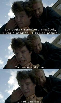 """I had bad days"" #Sherlocklives"