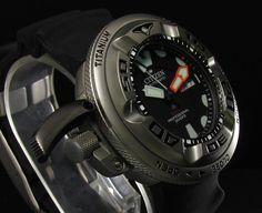 Citizen Titanium Promaster Autozilla 1000M NH6934-08F NH6930-09F