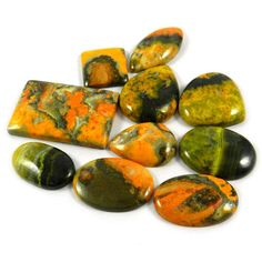 10Pcs Mix Shape Bumblebee Jasper Wholesale Lot Gorgeous Jewelry Gemstone GS0091 #shining_gems #gemstones #jewelry #Beads