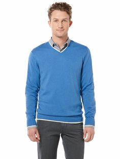 Double Layer V-Neck Sweater #MerryPerry