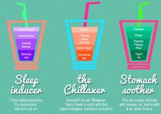 Smoothie Recipes for Everything: The Sleep Inducer, The Chillaxer and The Stomach Soother