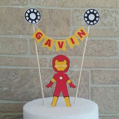 Spiderman cake topper Superhero cake topper Superhero birthday
