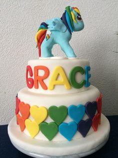 Grace's 'my little pony' cake