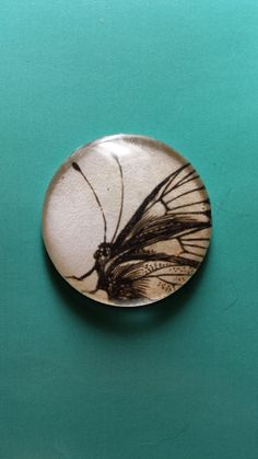 Glass cabochon butterfly for wire wrapping and beading by BaublesNBagz on Etsy