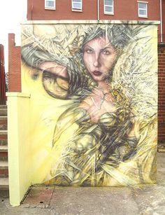 Street Art, Mural. | Look Upon The Dawn Of Demeter