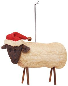 Wooly sheep craft can be used when discussing the culture for Sheep christmas ornament craft