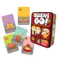 Sushi Go! es un divertido y rápido juego de cartas en el que los jugadores tratan de comer el menú perfecto de su comida favorita. Para ello, deberán combinar las cartas de la mejor forma posible, pero el problema es que las cartas circulan a toda velocidad por la mesa...
