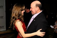 Laura Osnes and Frank Wildhorn (Bonnie & Clyde) at the 2012 Tony Nominees Press reception on May 2.
