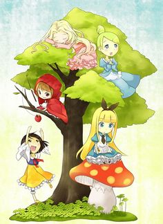 Tags: Anime, Alice In Wonderland, Snow White and the Seven Dwarfs, Aurora, Cinderella