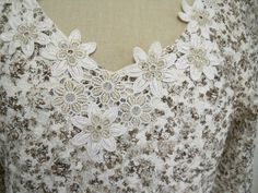 Coldwater Creek Top Size S Beige Gold Lace http://www.ebay.com/usr/thetruthmatters13