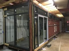 This is an by shipping container that has been turned in to a one bedroom, one bath home. Tiny House Listings, Tiny Houses For Sale, Shipping Container Homes, One Bedroom, Bath, Spaces, Furniture, Home Decor, Little Houses For Sale