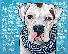 Custom Boxer Portrait with Poem by snicklenfritz on Etsy