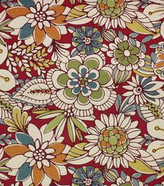 "Home Essentials Print Fabric 45""-Madianne Garnet"