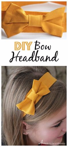 DIY Teen Fashion for Spring - DIY Bow Headband - Simple Homemade Clothing Instructions and Dr Fashion Tips For Women, Diy Fashion, Teen Fashion, Fashion Spring, Fashion Ideas, Dress Fashion, Diy Choker, Diy Jeans, Diy Ombre