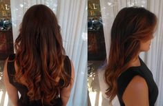 Warm carmel ombre highlights on a natural rich chocolate base - so perfect! GOLDWELL Color Hair Color and Style by Sir Daniel, Salon Tease
