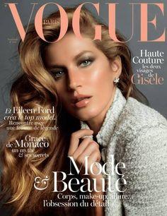 Hair color  Gisele Bundchen graces the November 2013 cover of Vogue Paris