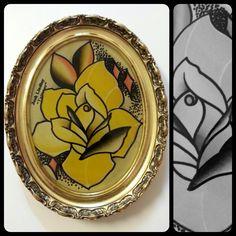 Rose paint please dont copy #spitpaint #tattooflash #watercolor #rose #atl #atlanta