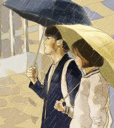 Cute Wallpaper Backgrounds, Cute Cartoon Wallpapers, Korean Art, Korean Drama, Ryu Jun Yeol, Cover Wattpad, Hyeri, Boy Illustration, Cute Couple Art