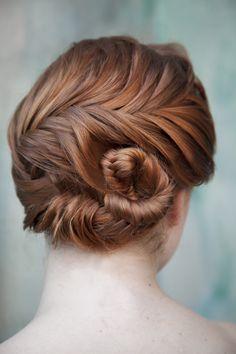 red hair seashell braid