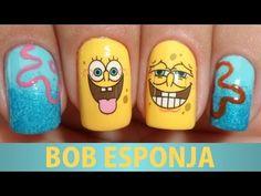▶ Unhas do Bob Esponja (como colocar adesivos) - YouTube