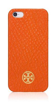 Tory Burch Orange Robinson iPhone Case