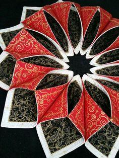 fold n stitch wreath tutorial - Google Search