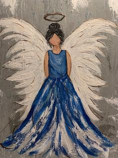 Add doves to dress(Jess) Disney Paintings, Cute Paintings, Unique Paintings, Angel Paintings, Trippy Painting, Easy Canvas Painting, Canvas Art, Inspiration Wand, Painting Inspiration