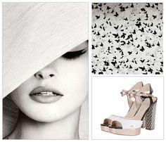 Black & white style #minimalism #heels #shoes #footwear #hat #fashion #Italy #nyc #elegant #carlopazolini