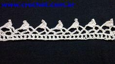 Puntilla N° 36 en tejido crochet tutorial paso a paso.