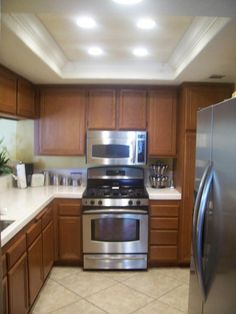 Lighting For Small Kitchen Recessed And Center Light Google Search