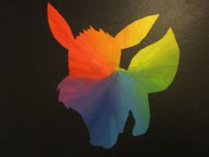 Who's That Pokemon Silhouette Paintings by JessicaPlayer on Etsy, $9.99