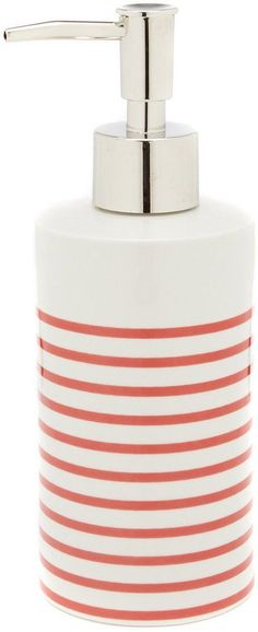 Kate Spade Paintball Floral Collection Striped Lotion Dispenser