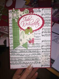 Weihnachtskarte in A5 mit Platz für eine Babauba-Gutscheinkarte  @ Ute Lamprecht Jingle Bells, Bullet Journal, Gift Cards, Xmas Cards