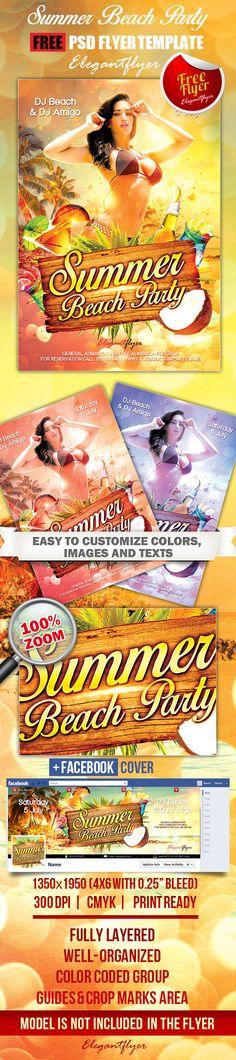 Free Flyer Summer Beach Party Template  HttpFreepsdflyerCom
