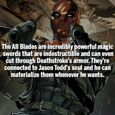 Holy Hell for real? <~~~ i wonder which comic run has this cuz that's badass Comic Book Characters, Comic Character, Comic Books Art, Marvel Dc Comics, Marvel Vs, Marvel Facts, Batman Facts, Superhero Facts, Red Hood Jason Todd