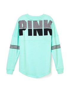 Fashion Brand Tshirt Women Casual Print Pink Letter Tops T Shirt Loose Tee Shirt Female Long Sleeve Clothes Blue L - Women Long Sleeve Shirts - Ideas of Women Long Sleeve Shirts Graphic Long Sleeve Shirts, Oversized Long Sleeve Shirt, Blue Long Sleeve Shirt, Graphic Shirts, Victoria Secret Outfits, Victoria Secret Rosa, Bold Logo, Pink Outfits, Simple Outfits
