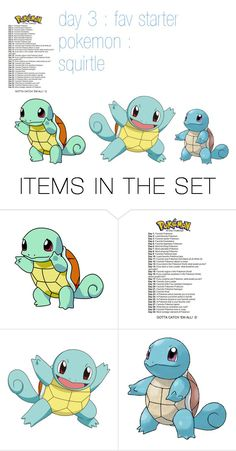 """""""day 3 : fav starter pokemon : squirtle"""" by panicpilot ❤ liked on Polyvore featuring art"""