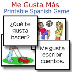Me Gusta Mas printable Spanish game for all ages, especially middle school and high school!  $2.10