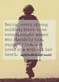I'm definitely not stronger than my husband- but it's a nice sentiment