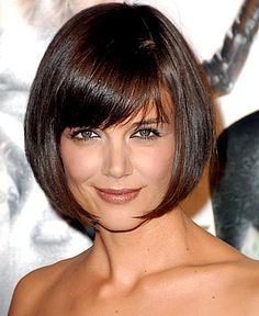 Katie Holmes' bob with bangs.  Love it.