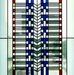 Arthur Stern Architectural Glass Stained Glass Window Frank Lloyd Wright Glass Sculpture Deco
